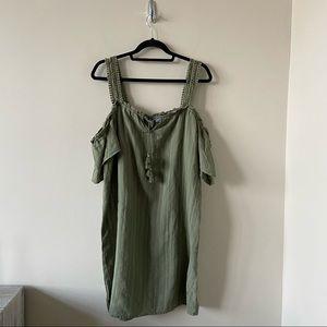 Aerie-Flutter Sleeve Lace Strap Shift Mini Dress